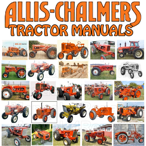 177785875_ACTractorwbm4r allis chalmers hb212 hb 212 ac tractor & attachments service repair