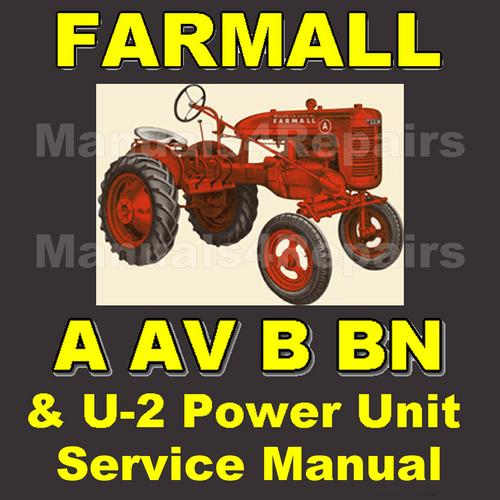 B BN INTERNATIONAL FARMALL TRACTOR TECHNICAL SERVICE SHOP REPAIR MANUAL