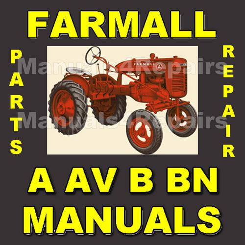 ih farmall a av b bn service manual parts catalog 2 manuals d rh tradebit com Farmall BN Farmall D