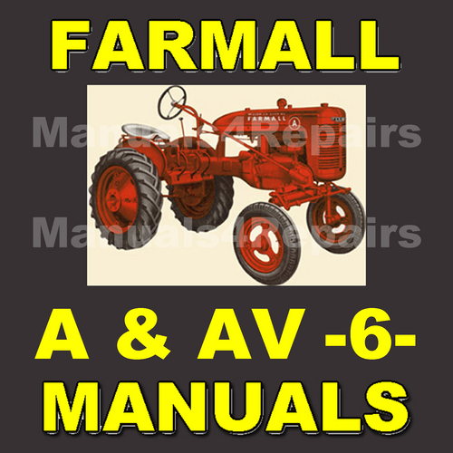 Pay for IH FARMALL A & AV Tractor -6- MANUALS Service, Parts, Owner, Attachments, Shop Manual Catalog - DOWNLOAD