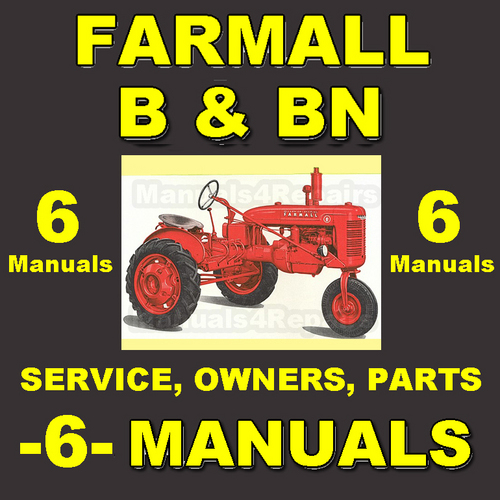 ih farmall b & bn -6- manuals service, parts, owner, attachments, shop  manual catalog - download - tradebit  tradebit