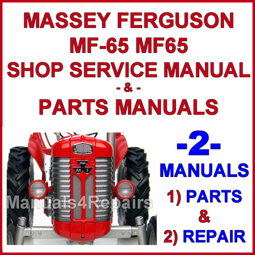 mf 65 wiring diagram massey ferguson mf 65 tractor service manual   parts manual 2  massey ferguson mf 65 tractor service