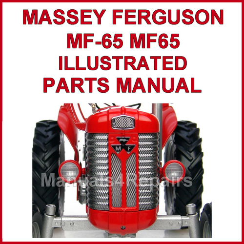 Massey Ferguson 65 Parts Breakdown : Massey ferguson mf illustrated parts manual
