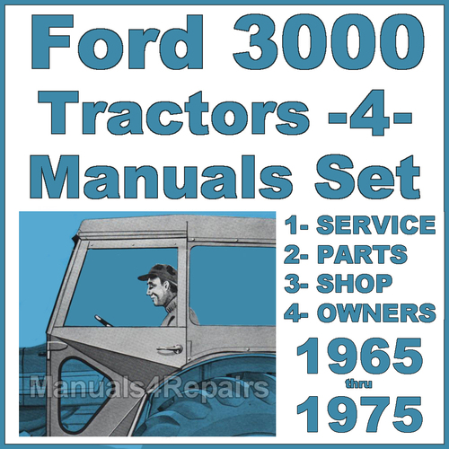 ford  tractor service parts owners manual  manuals impro