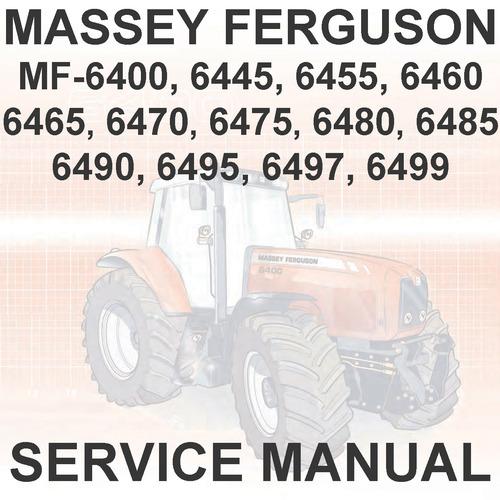 massey ferguson mf6400 mf 6400 series tractors 6465 6470 6475 6480 rh tradebit com massey ferguson 6480 operators manual John Deere 4850