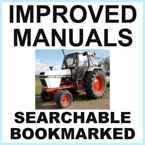 Pay for IH David Brown Case 1490 Tractor Shop Service Manual - IMPROVED - DOWNLOAD