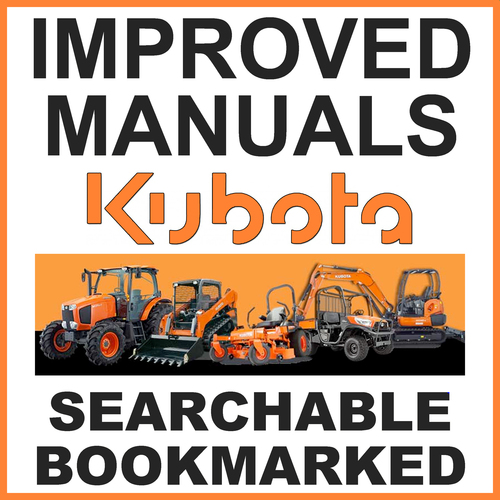 Pay for Collection of 3 files: Kubota L245F Tractor Service Repair Manual, Parts Manual & Operators Manual - IMPROVED - DOWNLOAD