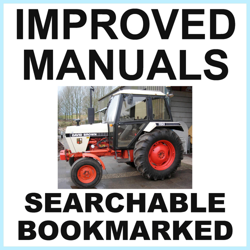 Pay for Collection of 2 files: Case David Brown 1190 Tractor Factory Service Manual & Operators Manual - IMPROVED - DOWNLOAD