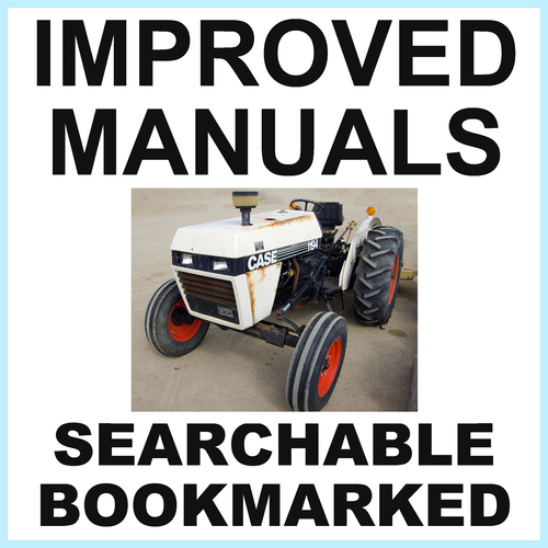 Pay for Collection of 2 files: Case David Brown 1194 Tractor Factory Service Manual & Illustrated Parts Manual - IMPROVED - DOWNLOAD