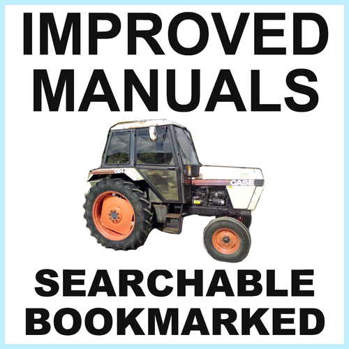 Pay for Collection of 4 files: Case David Brown 1394 Tractor Factory Service Manual & Parts Manual & Operators Manual & Shop Manual - IMPROVED - DOWNLOAD
