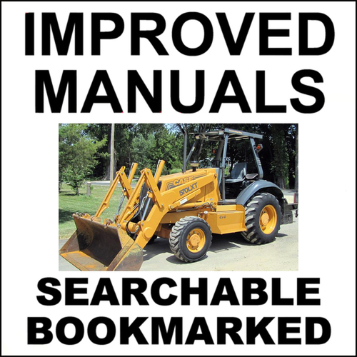 Pay for Collection of 4 files: Case 570LXT Loader Landscaper Service Manual & Operators & Engine Repair & Parts Manuals - DOWNLOAD