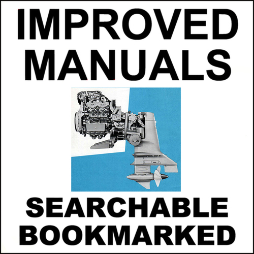 OMC Stern Drive Sterndrive Repair Service Manual 1964-1986 - IMPROVED -  DOWNLOAD