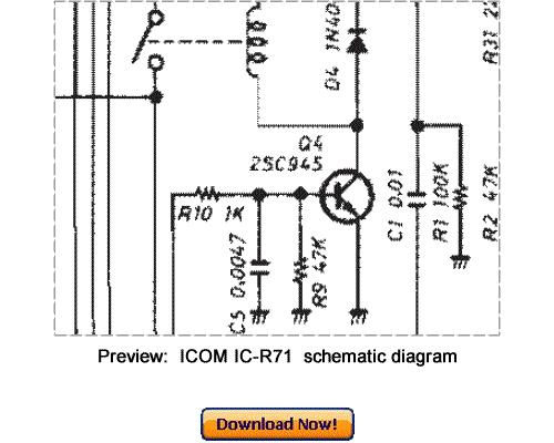 download icom ic-r71 service repair manual