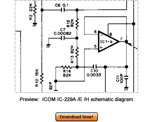 Free Download ICOM IC-229A IC-229E IC-229H Service Repair Manual Download thumbnail