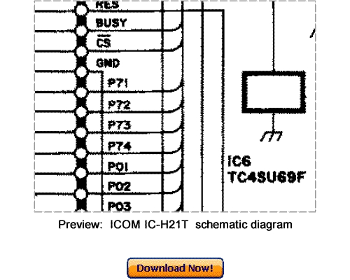 Pay for Download ICOM IC-H21T Service Repair Manual