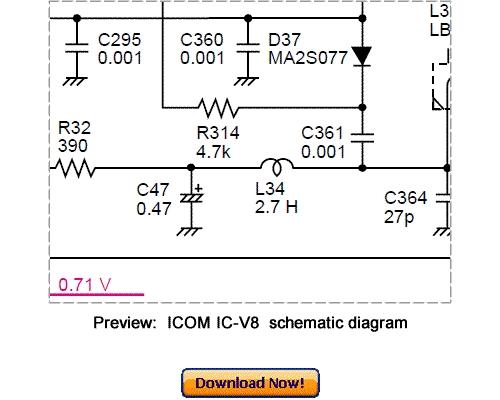 download icom ic v8 service repair manual download manuals rh tradebit com service manual icom v85 service manual icom v80