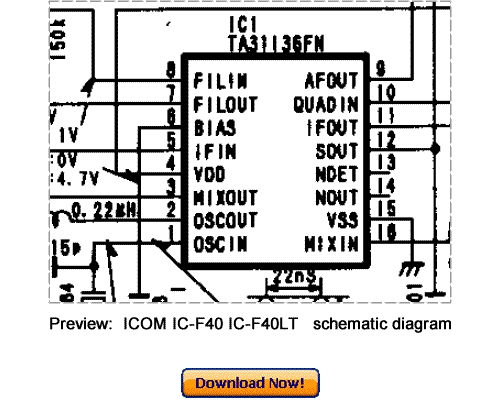 Free Download ICOM IC-F40 IC-F40LT Service Repair Manual Download thumbnail