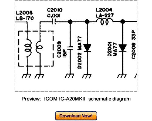 download icom ic-a20mkii service repair manual