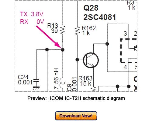 Free Download ICOM IC-T2H Service Repair Manual Download thumbnail