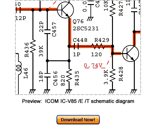 Pay for ICOM IC-V85 IC-V85E IC-V85T Service Repair Manual Download