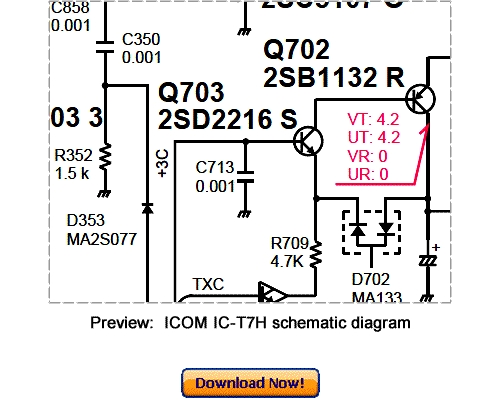 download icom ic t7h service repair manual download manuals rh tradebit com Icom 735 Mods icom ic-t7h manual