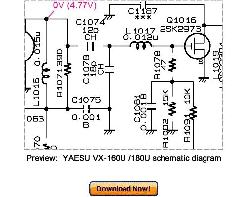 Pay for Download VERTEX YAESU VX-160U VX-180U Service Repair Manual