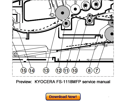 Pay for KYOCERA FS-1118MFP KM-1820 Service Repair Manual Download