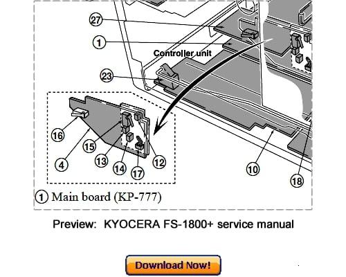KYOCERA FS-1800+ FS-1800Plus Service Repair Manual Download