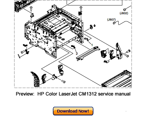 Pay for HP Color LaserJet CM1312 mfp Service Repair Manual Download