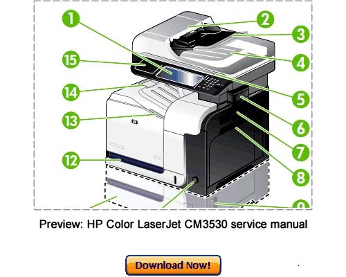 Pay for HP Color LaserJet CM3530 Service Repair Manual Download