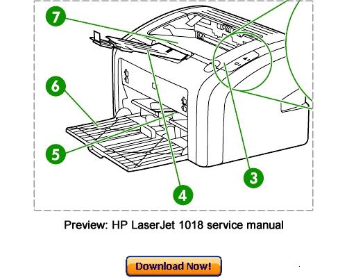 Pay for HP LaserJet 1018 Service Repair Manual Download