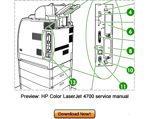 Hp Color Laserjet 4700 Cp4005 Service Repair Manual