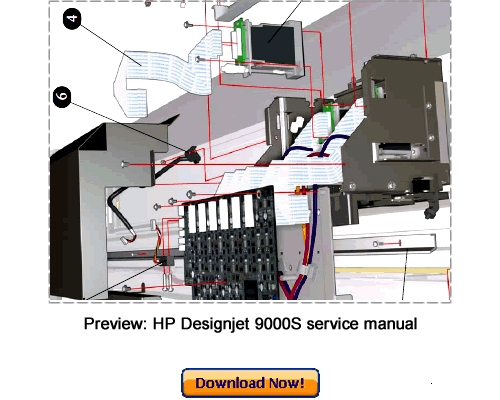 Pay for HP Designjet 9000S Service Repair Manual Download