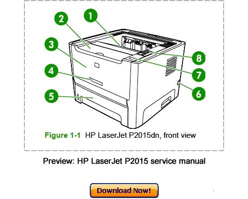 Pay for HP LaserJet P2015 Service Repair Manual Download