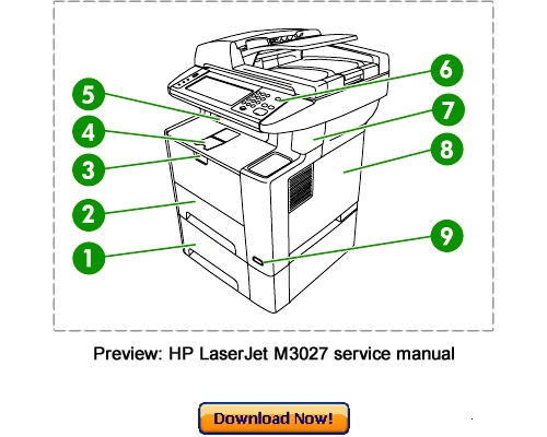 Hp Laserjet M3027 M3035 Mfp Service Repair Manual Download