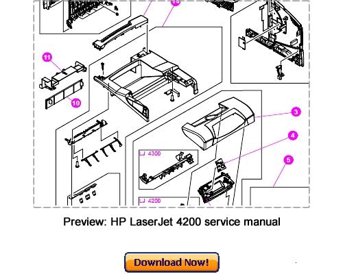 Pay for HP LaserJet 4200 4300 Service Repair Manual Download