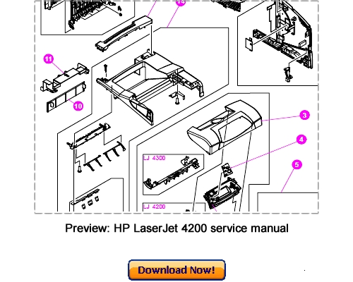 Pay for HP LaserJet 4200 4300 Service Repair Manual Download