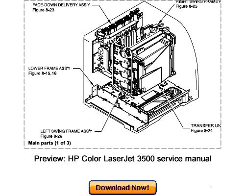 Pay for HP Color LaserJet 3500 3550 3700 Service Repair Manual Download