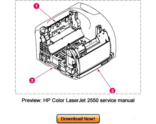 Pay for HP Color LaserJet 2550 Service Repair Manual Download