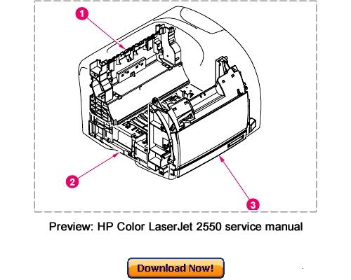 Download Hp 2550l color laserjet manual