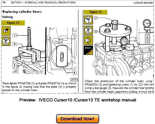 iveco cursor 10 cursor 13 g drive tier 3 workshop repair manual d rh tradebit com engine repair manuals free