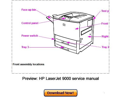 hp laserjet 9000 9000n 9000dn service repair manual download down rh tradebit com Printer Service Manuals PDF Printer Repair Manual