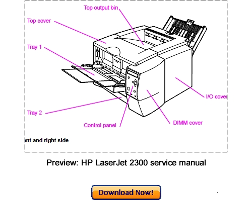 Pay for HP LaserJet 2300 series Service Repair Manual Download