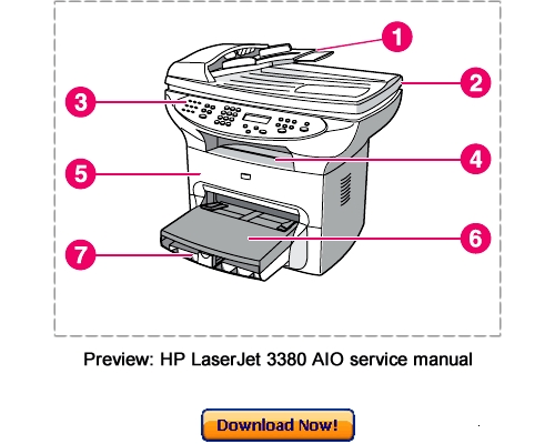 Pay for HP LaserJet 3380 AIO Service Repair Manual Download