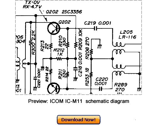 download icom ic-m11 service repair manual
