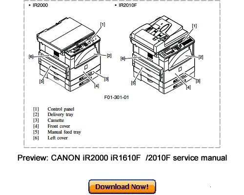 canon ir1600 ir2000 ir1610f ir2010f service repair manual download rh tradebit com Owners Manual Canon Owners Manual Canon