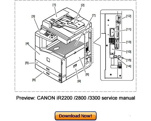 canon ir2200 ir2800 ir3300 service repair manual download downloa rh tradebit com Canon Ir3300 Driver Windows 7 Canon Ir3300 Drum Unit