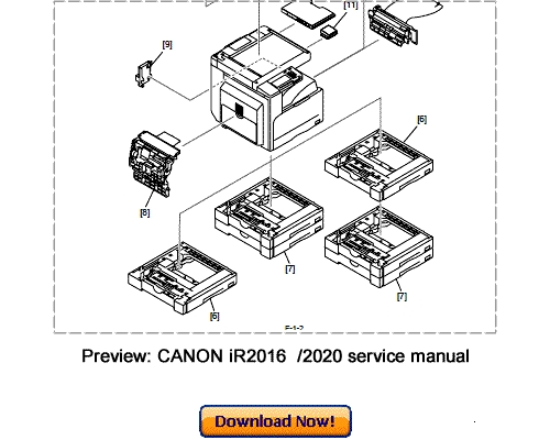 Pay for CANON iR2016 iR2020 Service Repair Manual Download