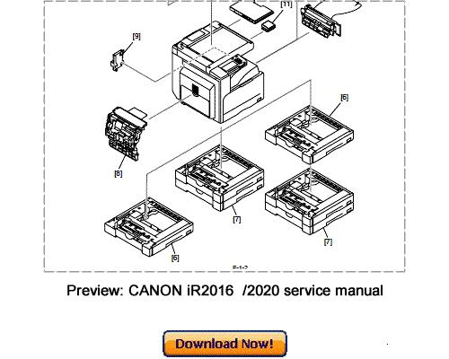Pay for CANON iR2016 iR2020 Service Repair Manual Download