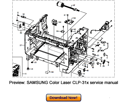 Pay for SAMSUNG CLP-310 CLP-315 Service Repair Manual Download